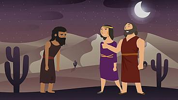 Jesus sana a un hombre ciego