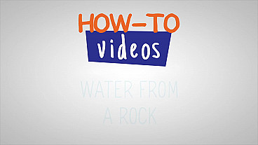Moses Gets Water from a Rock - How-to video