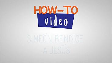 Simeón bendice a Jesús - Paso a paso