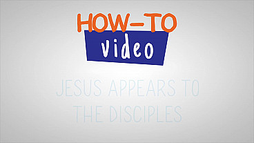 Jesús se le aparece a sus discípulos - Paso a paso